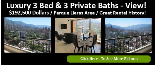 3 bedroom furnished apartment rental in Medellin