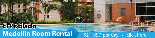 Room rent El Poblado , Room for rent in El Poblado with Pool, rent in El Poblado, Executive suite
