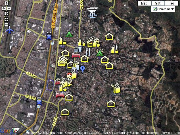 map of Medellin apartments